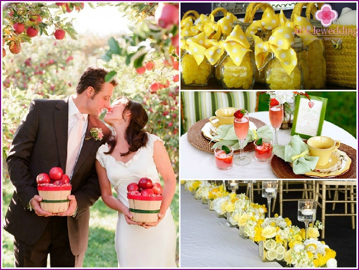 Wedding in fruit style