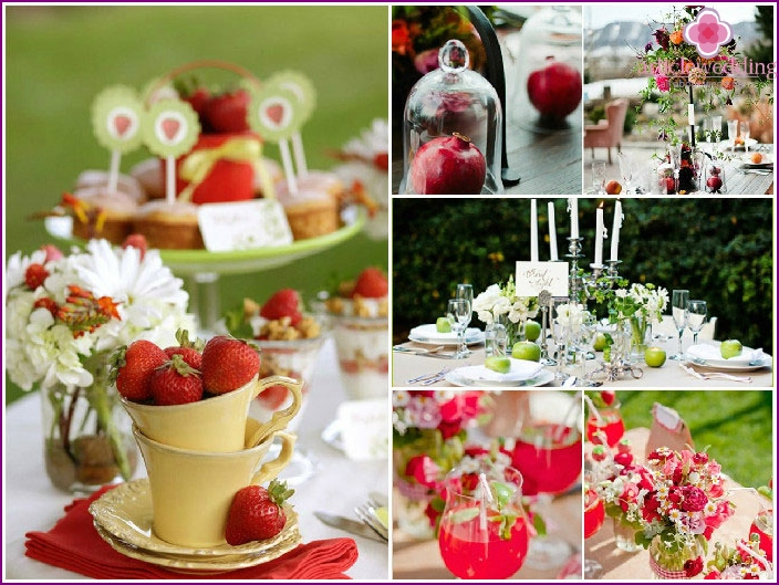 Decor wedding fruit