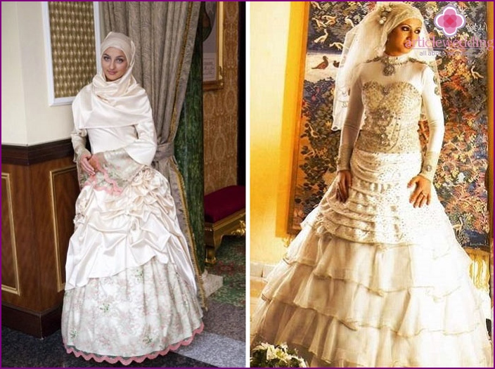 Muslim Wedding dress of the bride
