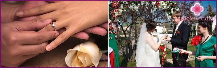 Presenting betrothal ring