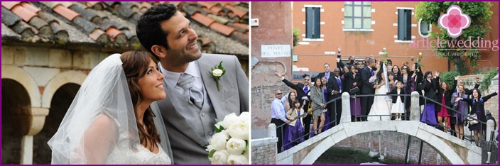 Tradition in Italy: wedding dresses young