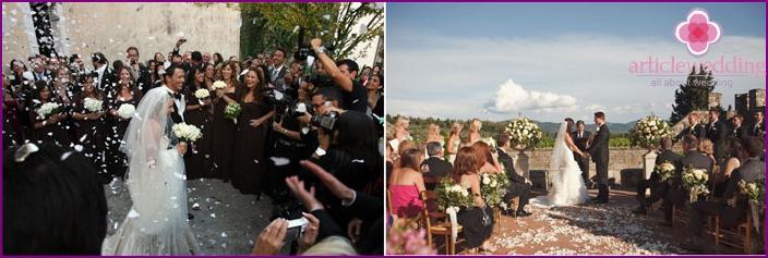 Traditional Italian wedding style