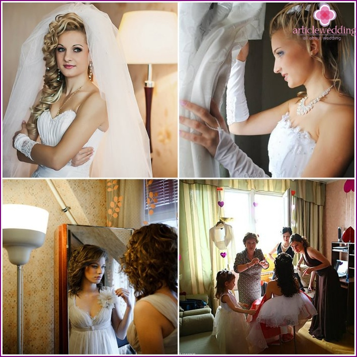 Ideas for photo shoots bride at home
