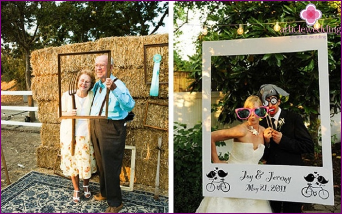 Funny wedding guests pictures in a cafe