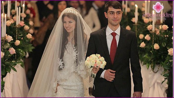 Caucasian Modern Wedding