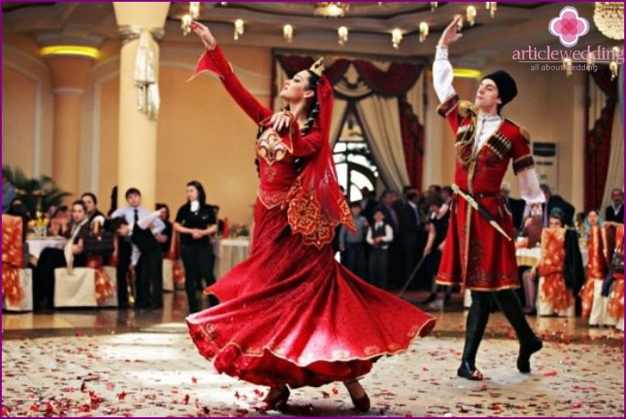 Traditional dance of the Caucasus - Lezginka