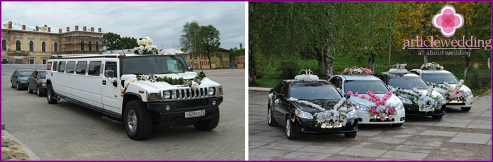 The motorcade of Chechen for wedding