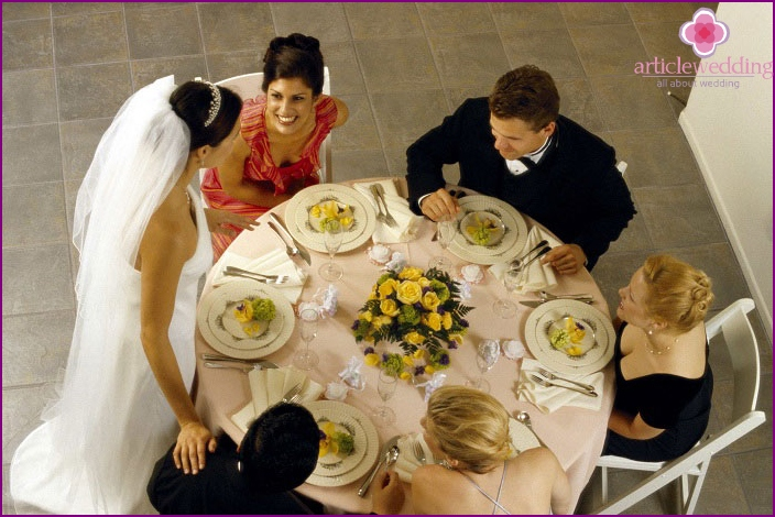 How to accommodate guests at a wedding party