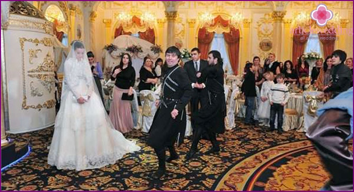 Chechen wedding feast