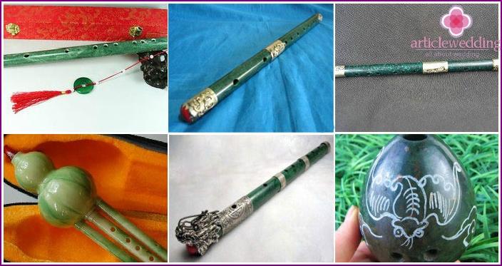Jade musical instruments for 26 wedding anniversary