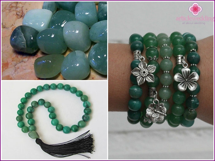 Jade beads for the competition on 26 anniversary