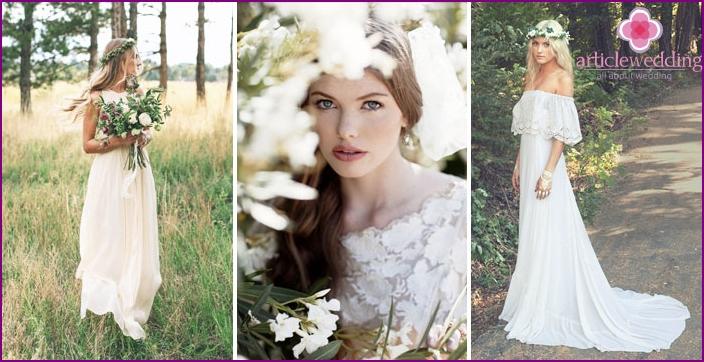 Wedding Bride shooting in the woods