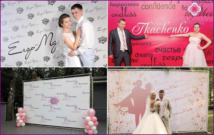 Banners for the wedding photo zone
