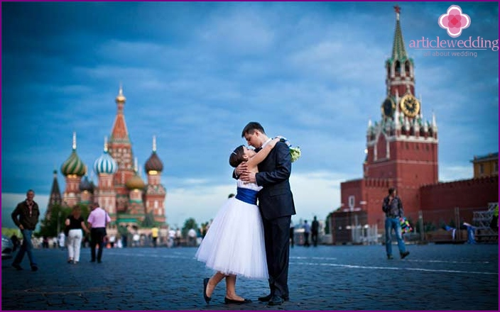 Wedding route through Red Square