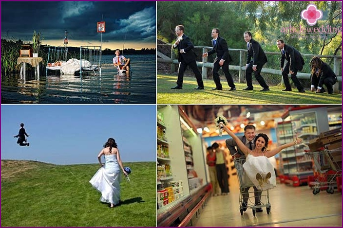 Examples of fun wedding photos