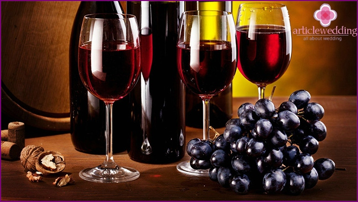 Red wine for a wedding feast