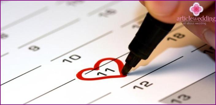 Choosing a future wedding date
