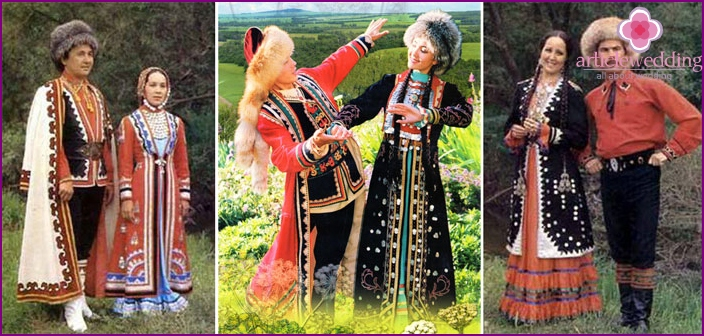 Traditional wedding dress Bashkirs