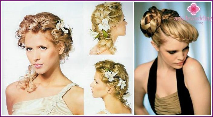 Как красиво сделать причёску на свадьбу