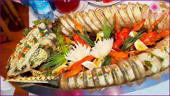 Fish dish at wedding
