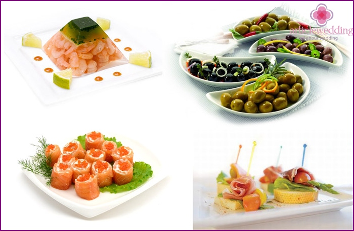 Cold appetizers for wedding