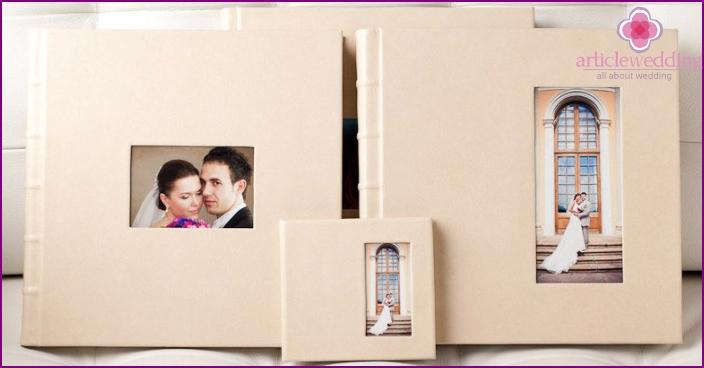 Possible formats of wedding photobooks