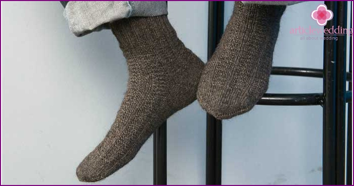 Warm socks - a gift from betrothed