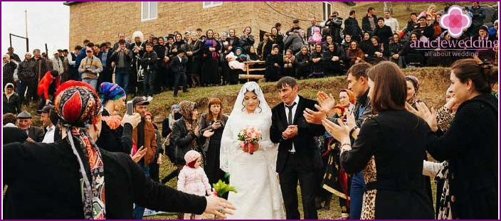 Scale Caucasian wedding
