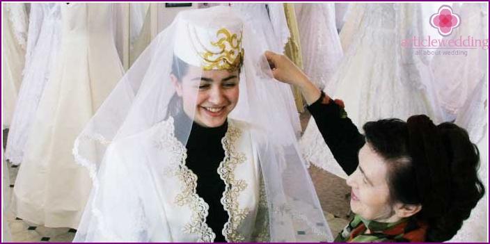 Beautiful caucasian bride