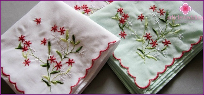 Embroidered handkerchief - a sign of location