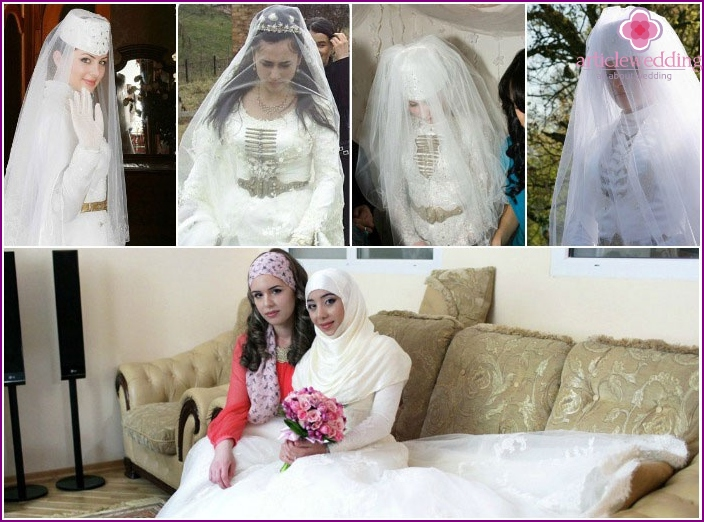 Wedding dress Chechen culprits celebrations