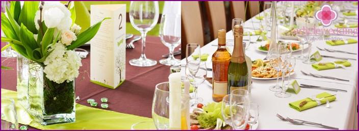 Beautiful table setting Wedding table
