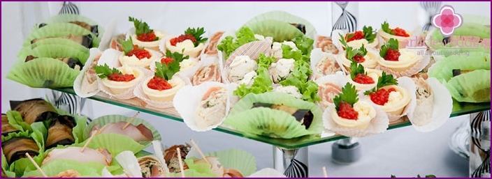 A variety of cocktail party appetizers