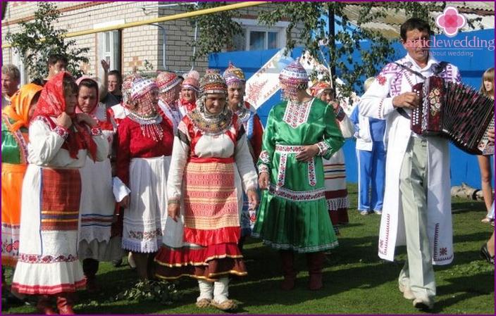 Chuvash people wedding