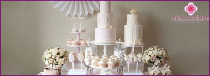 Wedding cake for a sweet table