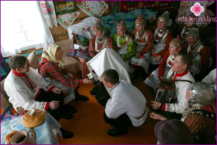 Traditions Chuvash wedding