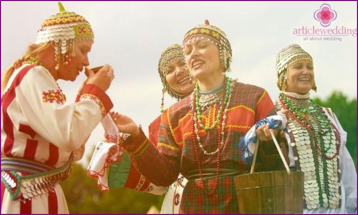 Chuvash bride rite of water circulation
