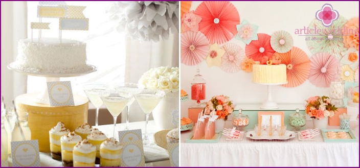 Beautiful tableware Candy Bar