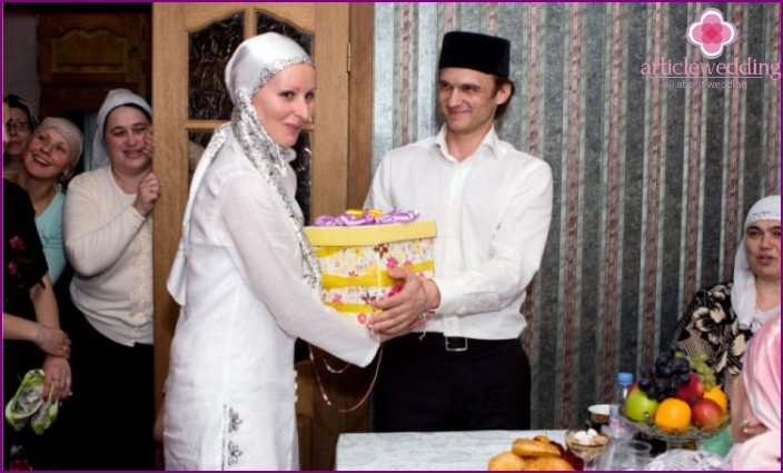 Tatar young wife in the house of her husband