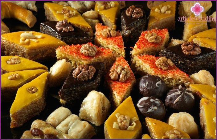 Delicious sweets Azerbaijani
