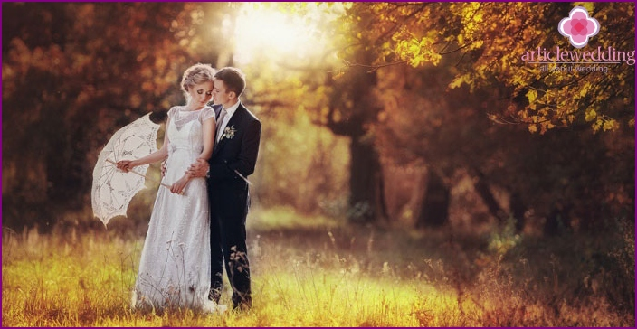 Wedding in autumn