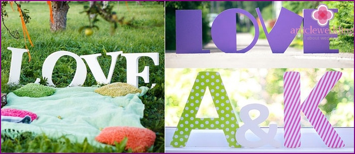 Large letters for wedding