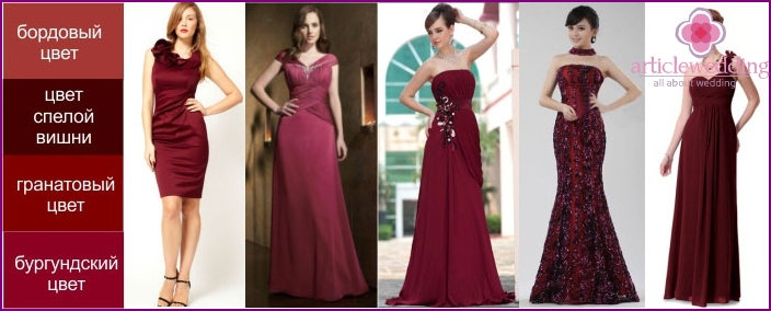 Options burgundy dresses mother of the groom