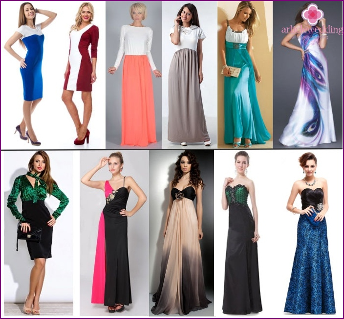 Combined dresses for mother of the groom
