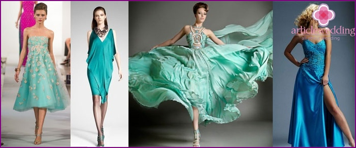 Dresses for women in turquoise wedding
