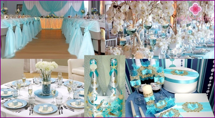 Making a banquet hall for turquoise anniversary