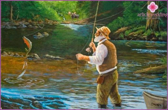 Photo: Bride ransom fishing style