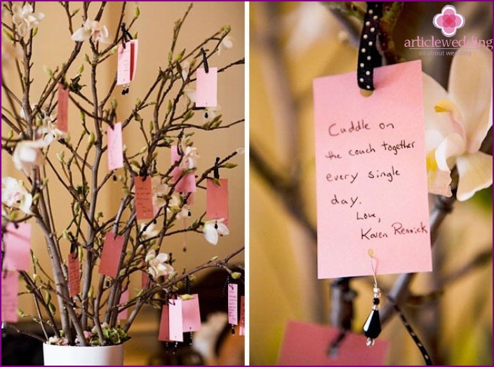 Tree of Love wishes for a 20 Anniversary