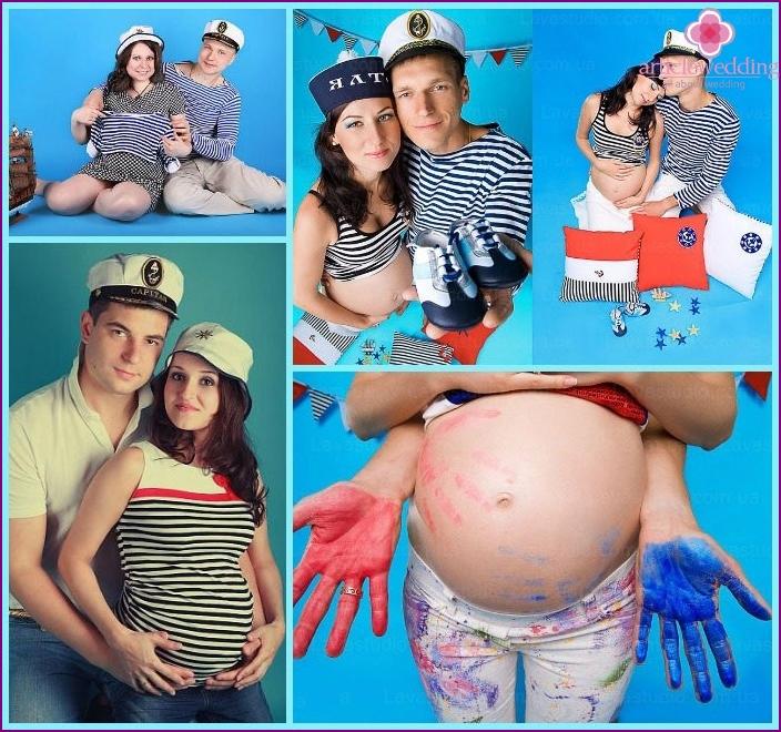"Marine ""pregnant"" photo shoot"