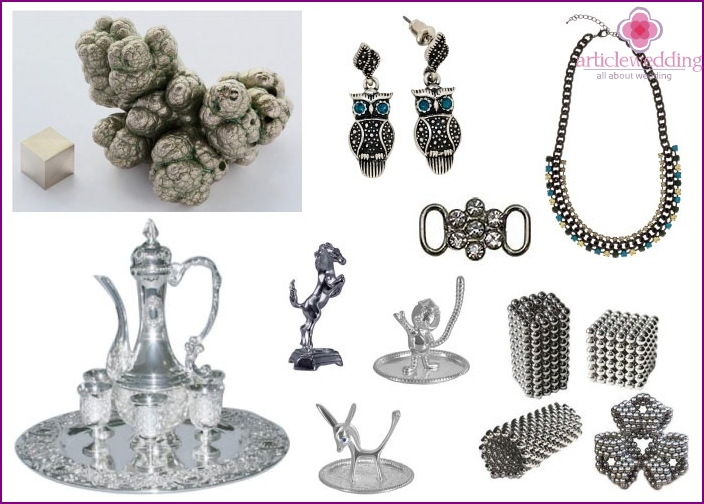 Products made of nickel on wedding anniversary
